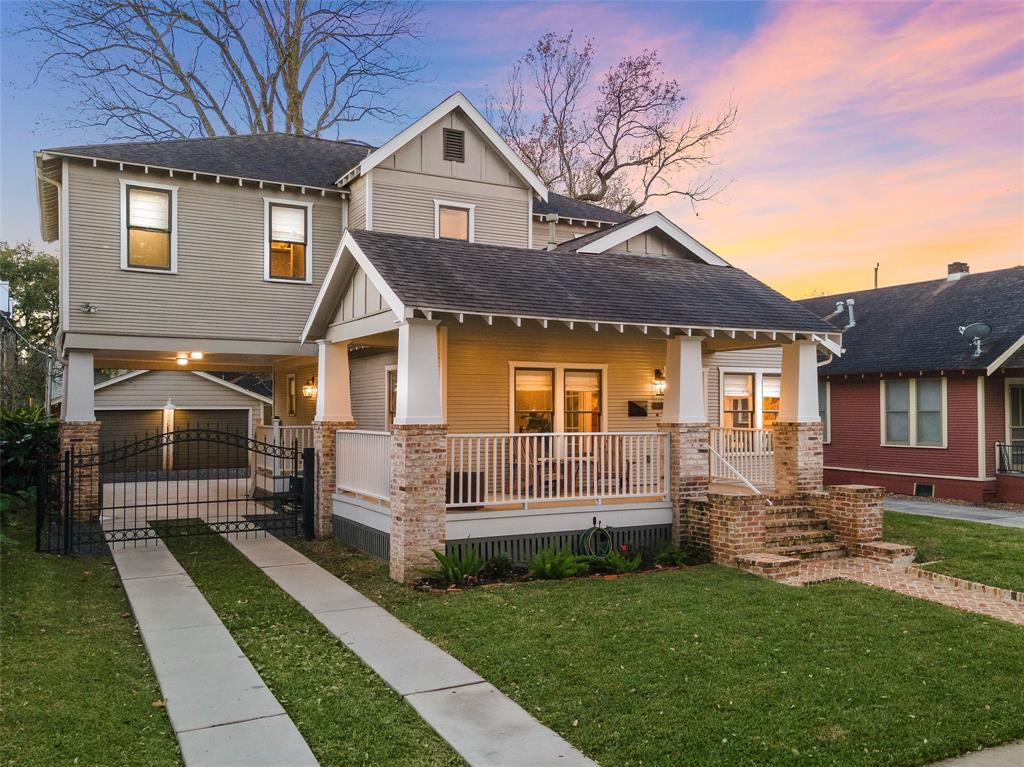 **We currently have multiple offers - Please submit best & final by 5pm Jan. 10th* Nestled in the desirable Heights area, enjoy the proximity & walkability to top-rated schools, parks, trails & restaurants in this home that blends timeless style & modern day living! This 4 bed, 4 bath bungalow boasts an elegant custom fireplace, open living/kitchen, separate study & upstairs flex/game room. Unique fixtures & a shiplap adorned stairwell are just some of the special features. The kitchen displays classic aesthetics complemented by stainless steel appliances, marble countertops, white subway tiled backsplash, storage, a huge island, and breakfast bar. The living room & kitchen are tied together in a convenient open layout featuring wood floors & intricate crown moldings. The primary suite is a lovely haven w/ an elegant en-suite fitted w/large shower, clawfoot tub, & walk-in closet. Enjoy the screened porch & sizable backyard perfect for a playset, future pool, or outdoor lounging.