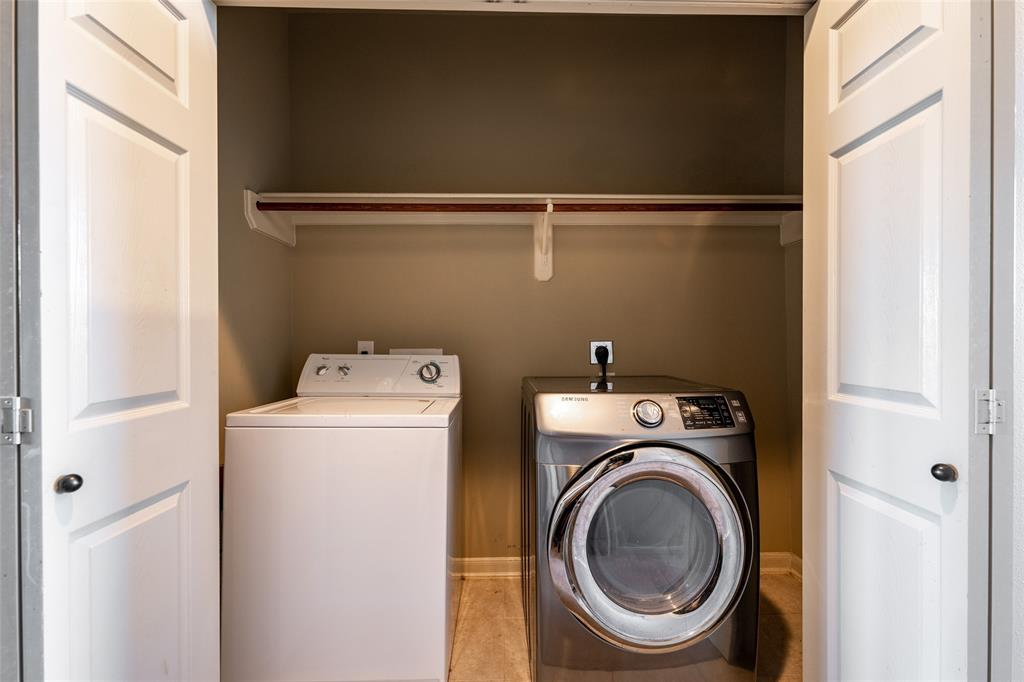 Washer & dryer included.