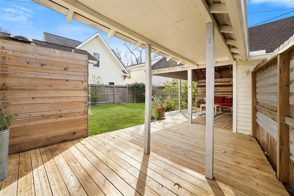 The backyard deck creates another outdoor space to entertain or relax with your friends and family.