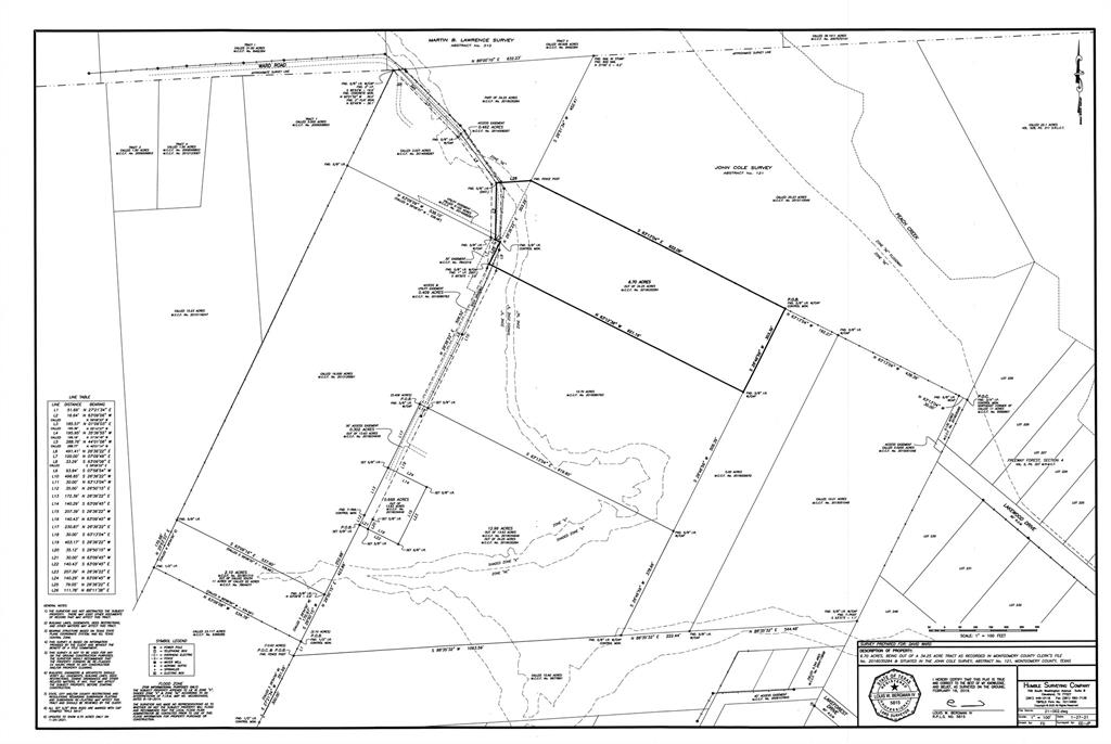 6.7 Acres out of 9.92 acres at the end of Ward Road. Seller has survey ordered. Access to property is at end of Ward Road through gates straight at the curve. Elevation is high in the front and then slopes in back towards Peach Creek. Must see to appreciate the topography. Beautiful piece of property.