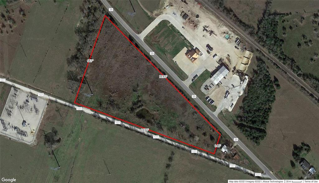 This property is in a wonderful location with dual road access. Located along FM 39 and CR 127 is +/- 10.77 Acres that has great potential and endless possibilities. The property would be a great place to build a home, have a business or both. There is some fencing around the property and it also has a small pond. Scattered trees throughout property.