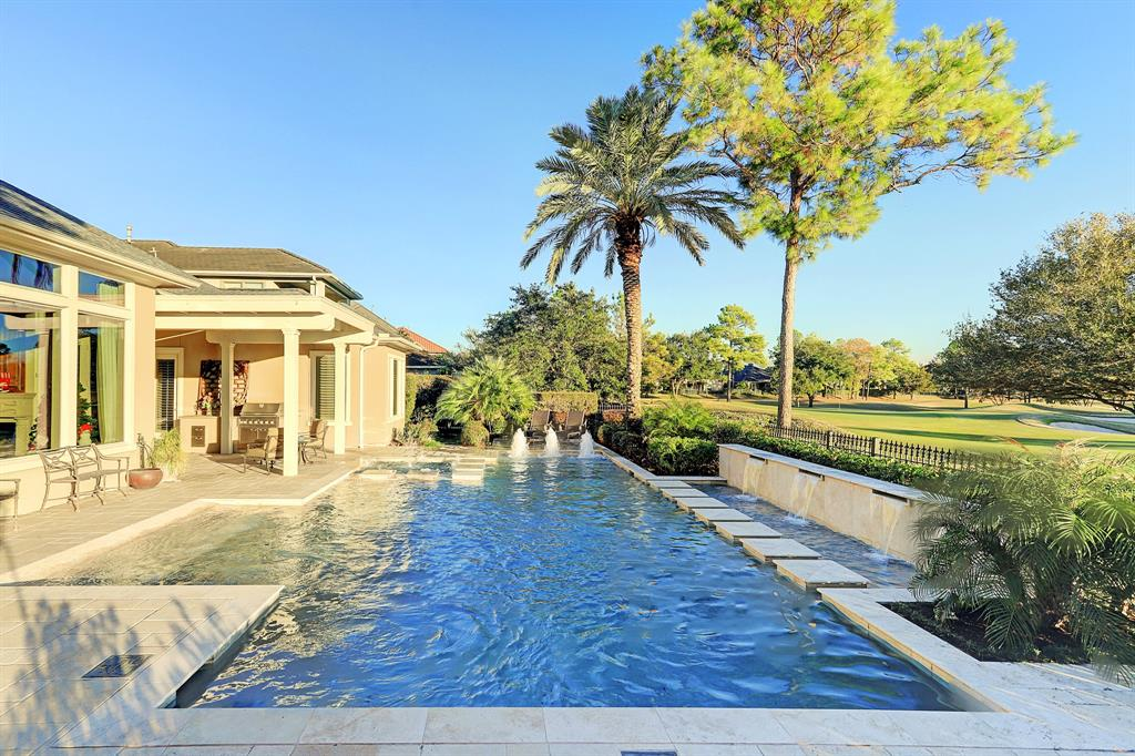 SENSATIONAL 1.5 STORY GOLF COURSE HOME & BREATHTAKING POOL within the beautiful, 24-hour guard-gated Royal Oaks Country Club community! Located on one of the finest golf course lots, this sprawling 1.5 story design offers in the main house 3 bdrms down + flex room w/powderbath on half story that could function as a 4th bdrm OR gameroom. The separate casita/quarters offers your guests a glorious stay with its' own full bedroom & full bath. The main house is designed for open-concept living with a lovely formal dining room, dual living areas, gorgeous island kitchen with built-in SubZero fridge & Thermador gas cooktop, central wet bar, marvelous panoramic windows, and a phenomenal study. Serene Primary Retreat overlooking the 12th fairway is well appointed with a spa-like bathroom & two enormous walk-in closets. Captivating golf course views paired with one amazing backyard oasis create the most enjoyable retreat! This superb design is a rare find within ROCC!