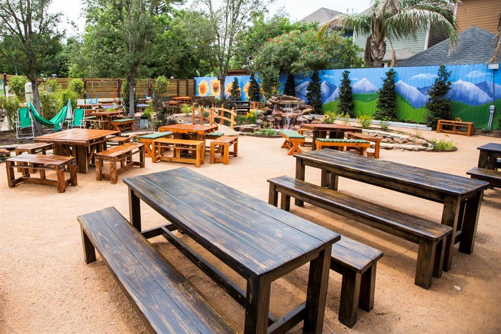 One of the best patios is nearby at King's Bierhaus