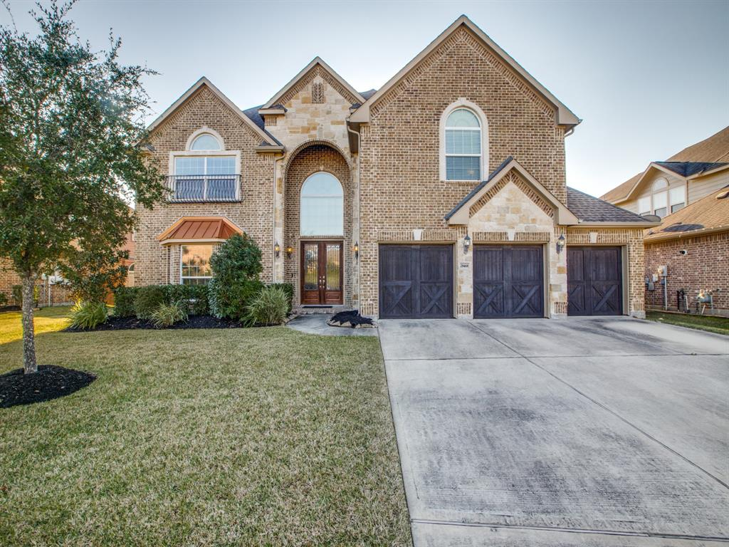 Shows like a model! This beautiful, 5-bedroom upgraded First Texas Home in 24-hour, manned gated neighborhood of Harmony Creek is an entertainer's dream! Beautiful Brick and Stone elevation with Double 8' Front doors w-Iron Grille provides excellent curb appeal. The kitchen features a large island, granite countertops, stainless steel appliances with double ovens, along with a butler's & large walk-in pantry. Home will wow you and all guests with the spiral wrought iron staircase, high ceilings, and meticulous condition. Spacious owner's suite has high ceilings and sitting area. 4 bedrooms upstairs with game & media rooms. Large, covered/screened patio allows outside enjoyment. True 3-car garage allows plenty of parking. Zoned to highly acclaimed Conroe ISD (Snyder Elementary and new Grand Oaks HS). Harmony Creek has a pool, tennis courts, parks, and a splashpad. Convenient location to TX-99 with an easy commute to ExxonMobil campus, The Woodlands, Bush Airport, & medical facilities.