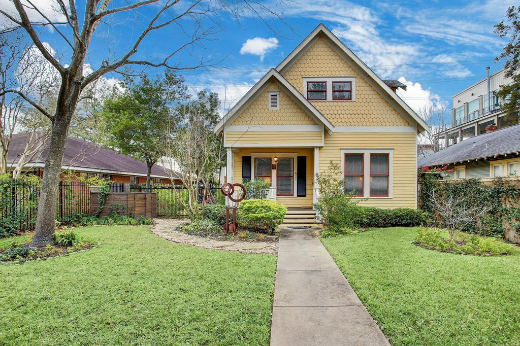 Located in the middle of the Houston Heights in an amazing walkable location and offering an ideal layout on an oversized 7500 square foot lot make this Houston Heights historic home a fabulous opportunity!  The home was completely reconstructed from the piers up in 2000 and includes soaring ceilings, hardwoods throughout, an abundance of light, generous sized rooms and quality finishes!  The home offers an open concept kitchen and family room, large private office, formal living and dining and sizable first floor master suite.  The upstairs includes a large game room between two bedrooms.  Lush private fenced yard with front and side covered porches create the perfect place to entertain friends and family and there is plenty of room to build a pool! This gorgeous home is located on Heights Boulevard just one block from shops and restaurants at the Heights Mercantile!