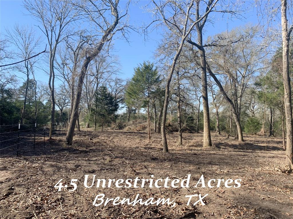 Fantastic unrestricted small acreage just a few miles out of Brenham City Limits. Towering trees. Recent underbrush clearing. Seasonal creek. Rolling terrain. New culvert and driveway entry on FM 2502. Tons of privacy! Come see all this small acreage has to offer!