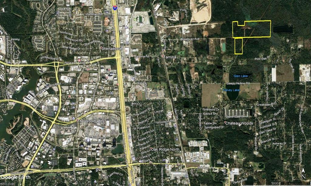 70 acres +/- of unrestricted land within 2 miles of The Woodlands Mall, Just off I45. Ideal for warehouse, industrial or large acreage residential. Central Water nearby.