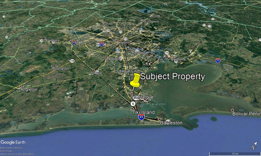 Excellent shape and size. 27.5 untouched acres within Texas City. Just South of the Emmett F Lowery Expressway and HCA Houston Healthcare – Mainland Center. Great central location with easy access to I-45. Raw and untouched, zoned for single-family, and best suited for development.