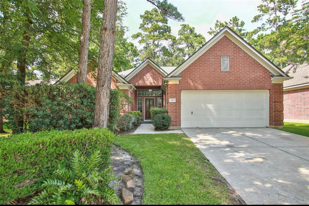FABULOUS light & bright single story home in the highly desired neighborhood of Indigo Sky in Indian Springs. New roof March 2019. New hot water heater May 2019. The home is freshly painted, wood-like tile added throughout the entire house. New stainless steel kitchen appliances added July 2019. Quartz countertops in kitchen. Both bathrooms remodeled with new vanities. Spacious master bedroom and large secondary bedrooms with ample closet space in all. Extensive outdoor decking and professional landscaping with automatic sprinkler system in front & backyard. Large peaceful fenced backyard. Treed neighborhood walking distance to Falconwood Park and Interfaith School. Minutes from the John Cooper School & George Mitchell Preserve. Zoned to Galatas Elementary, Mitchell Intermediate, and The Woodlands High School. Shows like new and move-in ready! Come see for yourself!! Listed for lease, as well. MUST SEE & WON'T LAST LONG!