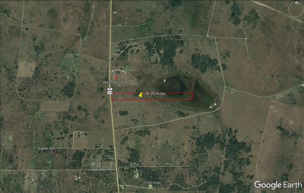If you've been looking for the perfect hunting and recreation property, THIS IS IT! 39.26 acres located between Goliad County and Refugio County on Highway 183 South, approximately 16 miles from Goliad. This property is .8 miles deep and surrounded by very large ranches that are all low fenced. This area is prime deer hunting country with a wetland area at the rear of the property. The wetland area is great for duck hunting. All deer blinds and accessories will convey to buyers. No minerals to convey, surface only. Call now because this property will not last long!!!