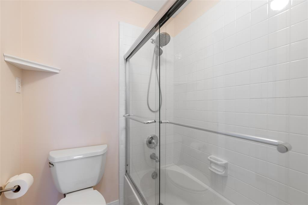 Shower area in the second full bath.