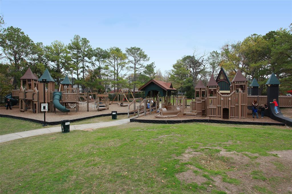 Just across Heights Blvd from Heights Mercantile also on the trail is Donovan Park, a kid's dream playground!