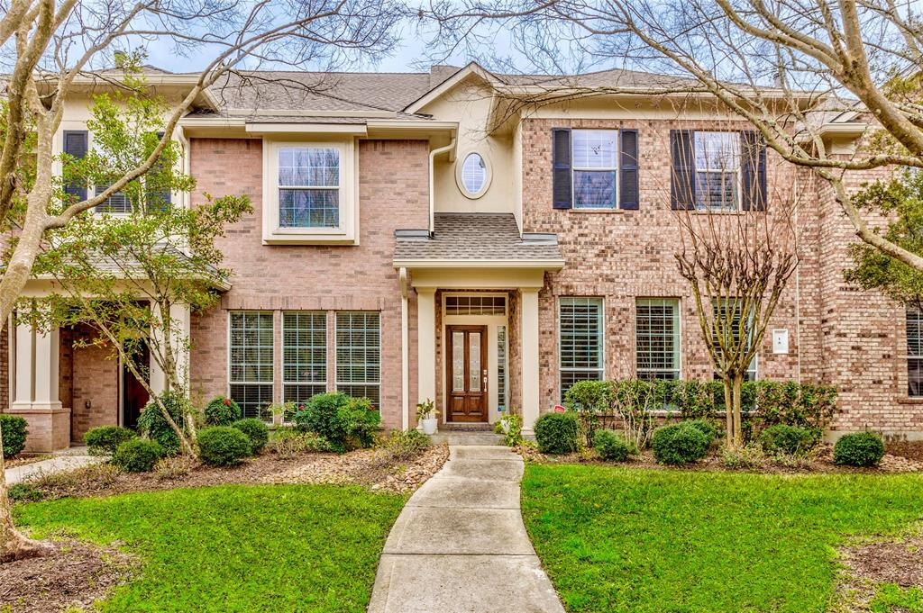 Fantastic townhome in the heart of The Woodlands! Three bedrooms plus laundry room conveniently located upstairs.  A fourth bedroom with full bath located on ground level.  Could serve well as guest room, private study or craft/exercise room.  Carpet-free home with upgraded hardwood & tile floors! Beautifully accented with wood shutters, crown moulding updated lighting, kitchen hardware & more! Enjoy your morning coffee out on the private patio deck.  Yard care & sprinkler maintained by the HOA.  Many shopping & restaurants located close by - even walking distance! Visit your next home soon!