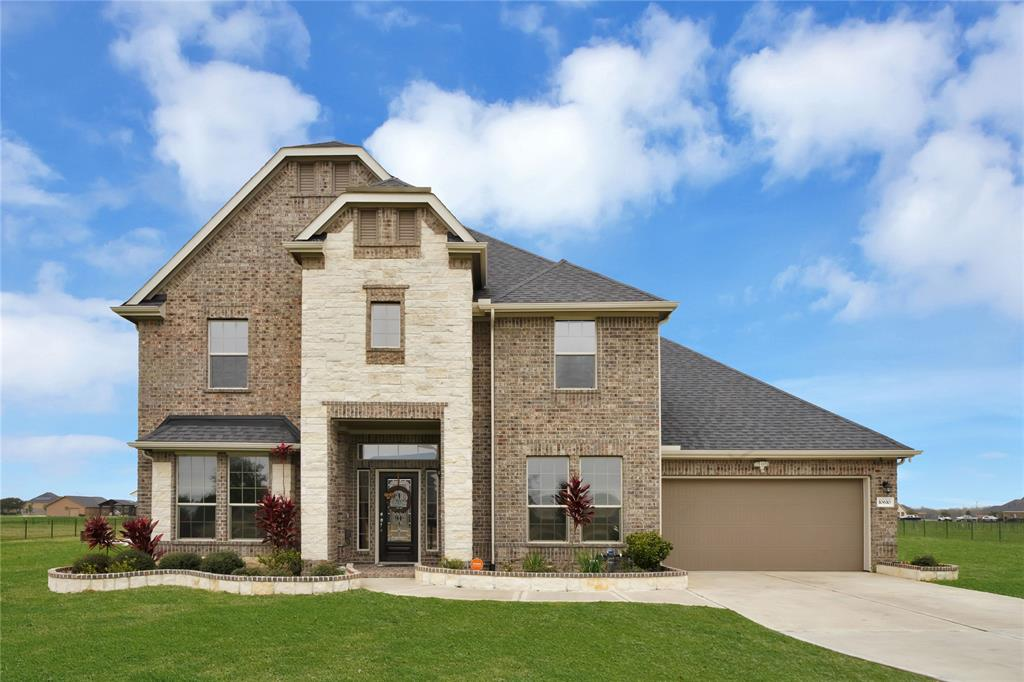THIS BEAUTY IS BACK ON THE MARKET AND READY TO CALL HOME!! If you missed your chance to see it... now is your chance. This home offers a 1.2 acre in a gated community of Tejas Lakes! This home features 5 Bedrooms, 4 Baths, Media room/Family Game room, a 3-car attached garage. Walk into an Elegant spiral wrought iron stairs. Open layout kitchen flows into the main living area with the extensive wrap around bar. Home offers the Primary Bedroom **PLUS** a secondary bedroom downstairs, both with suite baths. The second floor has 3 bedrooms all with walk-in closets, plus game room/media room. Friends and family could enjoy watching movies in the media room then extend the play/partying to the covered patio and the gigantic backyard. Don't miss out on this opportunity to own this masterpiece work of art!