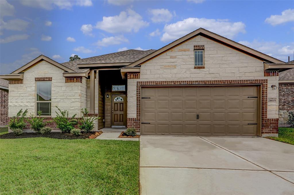 Beautiful one story home with stone in front and amazing upgraded interior selections