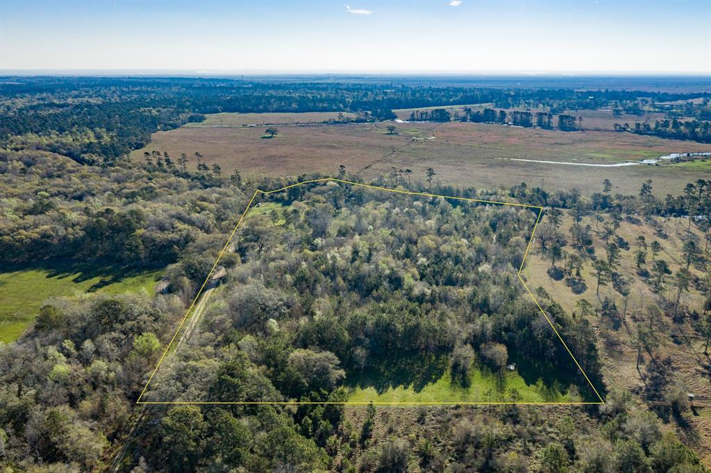 WATERFRONT on Double Bayou.  16.529 acres.  Build your dream home & catch dinner from your yard or have livestock.  Per seller there is at least 800 feet of water frontage.  Just minutes from the bay by boat.  Public water available through Trinity River Water Authority.  Property currently used for cattle.
