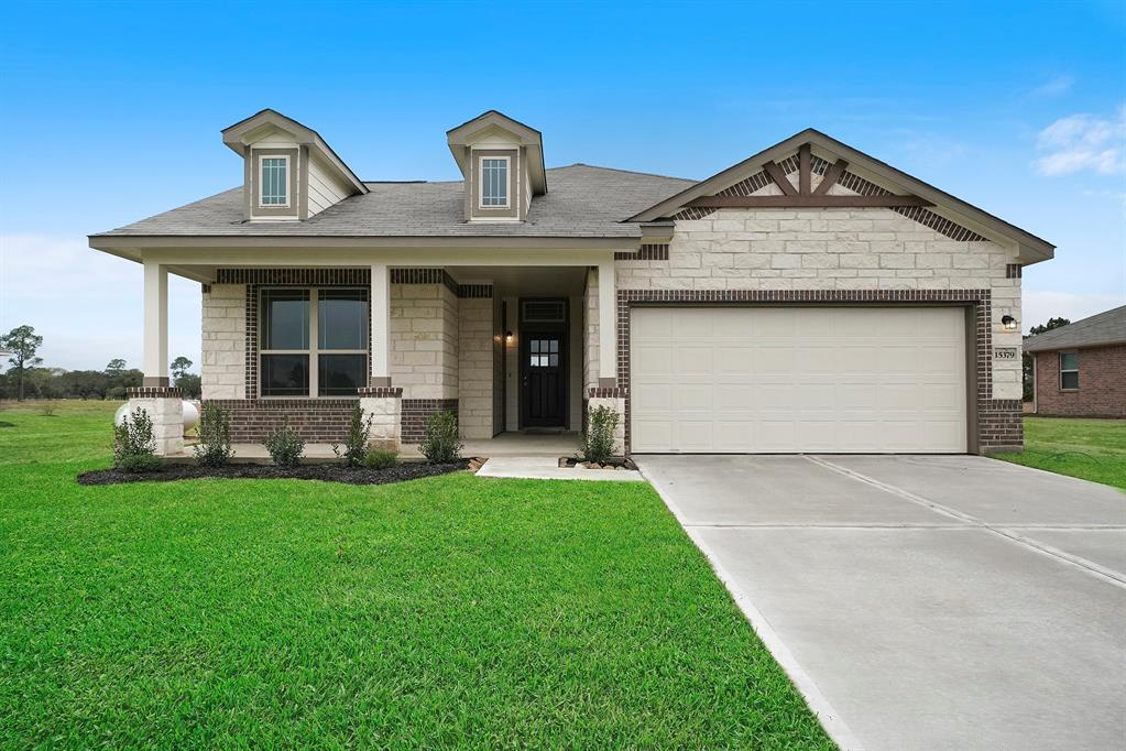 Beautiful 1 story home with stone on front and amazing upgraded interior selections