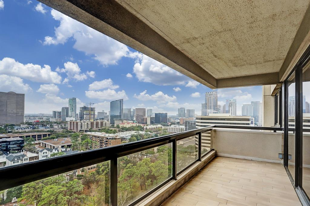 What a view!  Spacious 2 bedroom with panoramic views (south, east and west) on the 18th floor in the full service Park Square Condos. One of the largest non-Penthouse units with amazing views and two balconies.  Remodeled to the studs in 2017, this condo has a very open floorplan, contemporary finishes, big closets, and engineered hardwood floor throughout. The guard gated building offers 24-hour concierge, resort-style pool, 2 hot tubs (in locker room area and also out by pool), tennis courts, dry saunas, 24-hour fitness center, resident locker rooms, two banquet / party rooms, onsite storage space for each unit and 2 assigned parking spots.