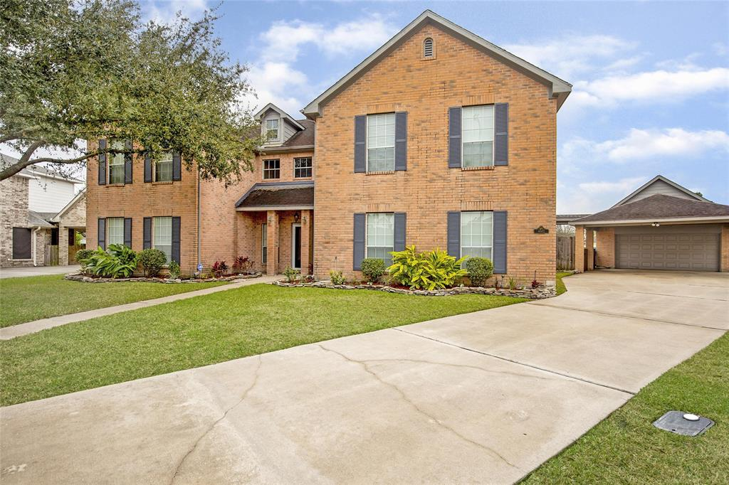 Beautifully landscaped clean home in Turtle Creek Subdivision/Deer Park School District.  Located on a large lot with oversize garage, second level storage and a fabulous pool with large covered patios.  Home features spacious living area, formal dining, 4/5 bedrooms and 4 full baths.  Primary bed and bath located on the first floor and offer a huge walk-in closet.  Island Kitchen open to the family room and has a huge walk in pantry. Upstairs loft could serve as a media area or game room.  Additional 3 bedrooms upstairs and two full baths.  Make an appointment today to see this beauty!