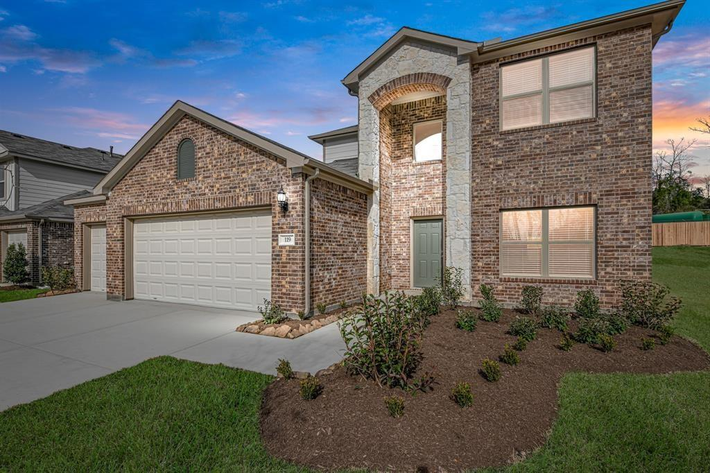 New construction by Rausch Coleman Homes! Stunning two-story with large backyard with no back neighbors. home featured 4 bedrooms, 2.5 bath and 3 car garage.