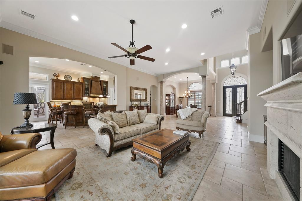 The open floor plan is ideal for entertaining.