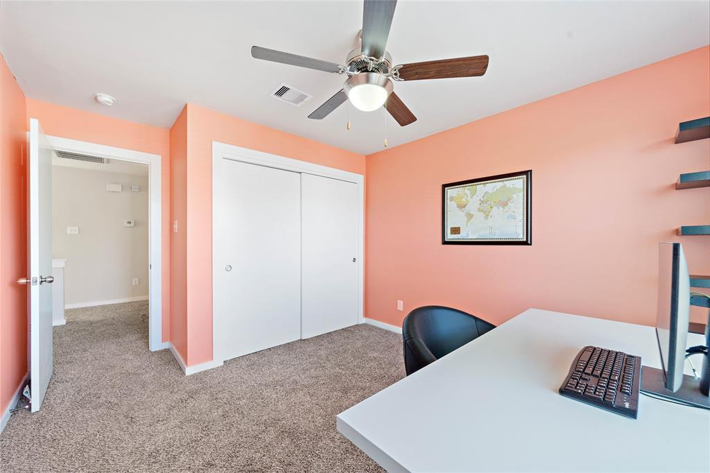 Secondary bedroom used as office.