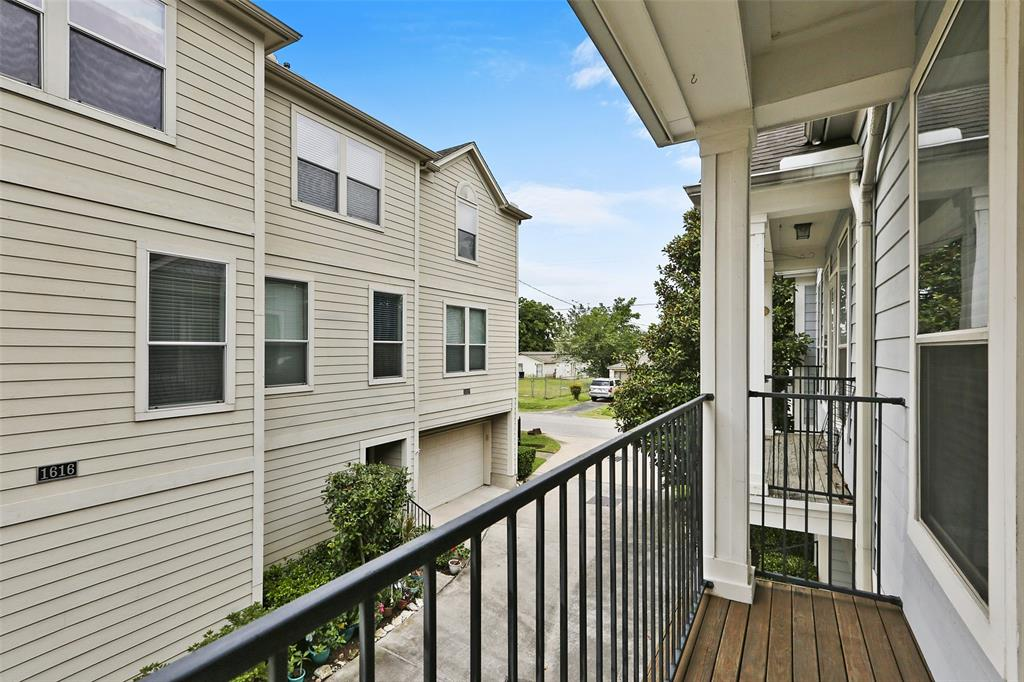 This balcony is located just off the main living space.
