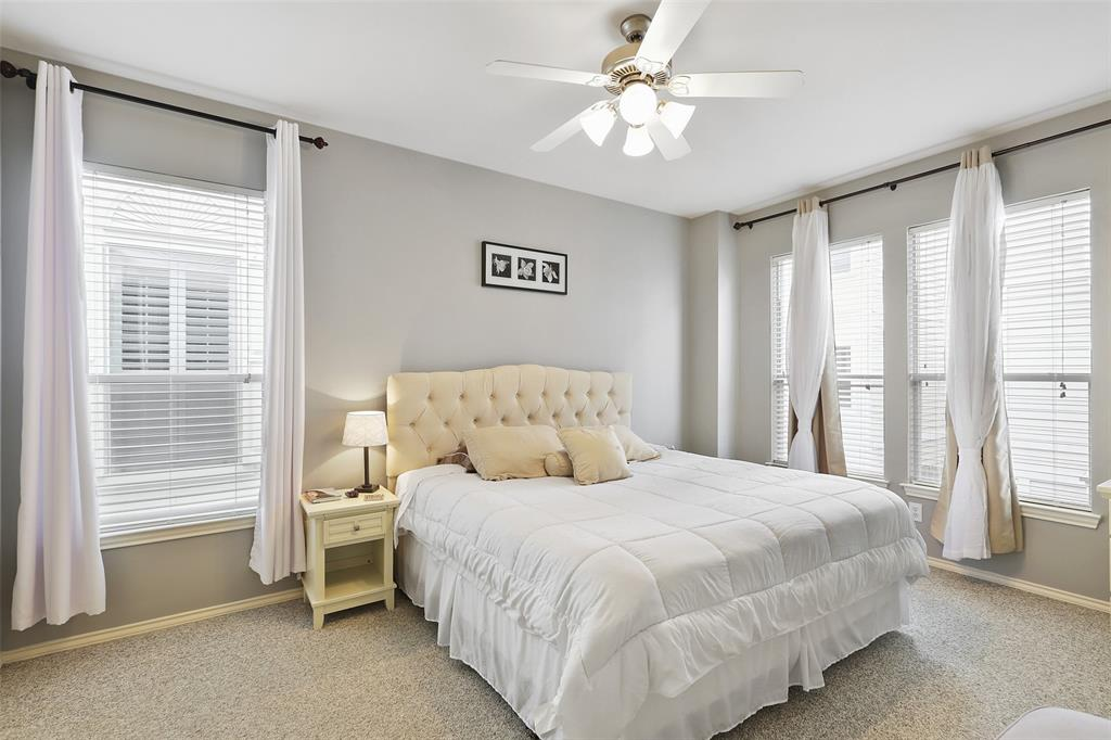 The master bedroom is located on the main living floor.