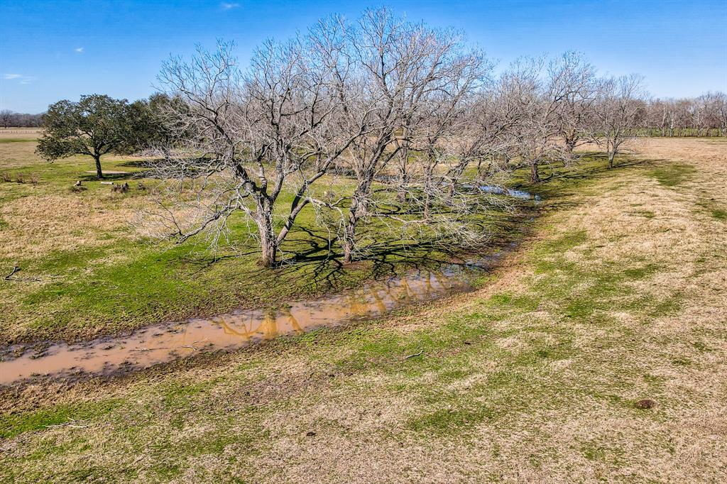 Raw land to build your dream home or put your livestock up. This piece of land is out of a larger 64 acre tract with additional acreage available. This property is home to many beautiful mature, pecan trees as well a small creek that runs through the bottom of the property. This tract has frontage on CR 121. 8 miles from Wharton, 60 miles from Houston You don't want to miss this opportunity come see for yourself!  This property is being offered in one big tract as well as three smaller tracts.