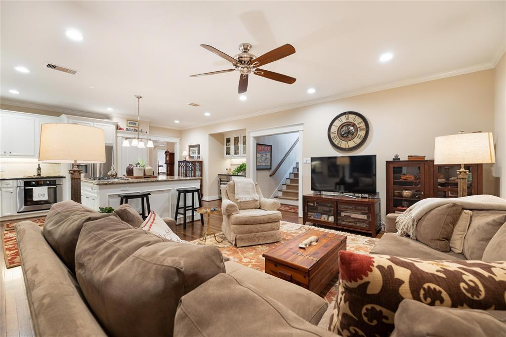 The large family room provides enough space for the family to stretch out.