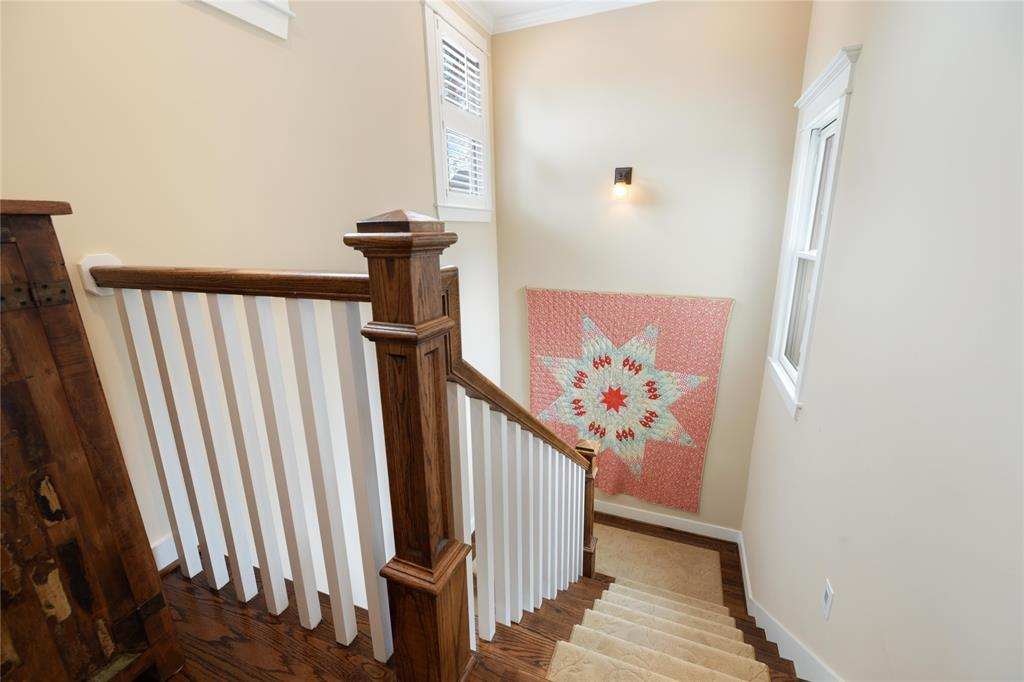 These wood banisters are indicative of the classic trim work throughout this home.