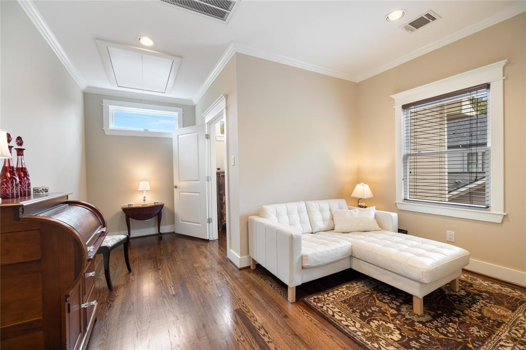 Located just off the master bedroom is this extra sitting area. This space could also be utilized as a separate study.