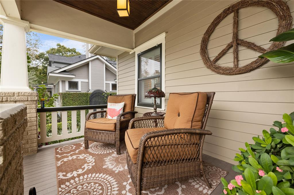 After a long work week, you'll love relaxing and neighborhood watching on this classic Heights porch.