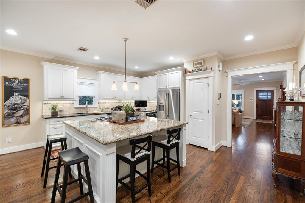 The kitchen also includes a large amount of counterspace, a large pantry, and under cabinet lighting.