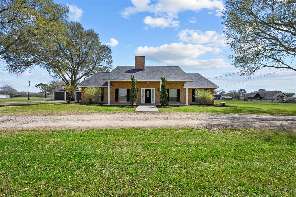 Welcome to 13603 Colony Rd. | Immaculate two-acre property located in the highly desirable Needville Texas flanked by mature Oak and Pine trees | This 3 bedroom, 2.5 half bathroom home is 2,245 sq. ft. which underwent a complete renovation including a state of the art custom kitchen with custom cabinets, large pantry, new windows throughout the home with custom wood blinds, real hardwood floors and new carpet. | New paint on the interior and exterior of the home | Primary bedroom features an en-suite bathroom and custom Primary closest, French-doors lead you to the exterior back patio  | ADA compliant hall bathroom | Brand new roof with a 30 year warranty | Bermuda grass and raised flowers beds surrounding the home | Crushed cement circle drive accompanied by 2 additional driveways onto the property | Custom 48'x23' 4-Car Garage with custom 9'x9' doors, and the 4th bay supports a car lift | Lifetime foundation warranty | Additonal features listed on the features list in the attachments