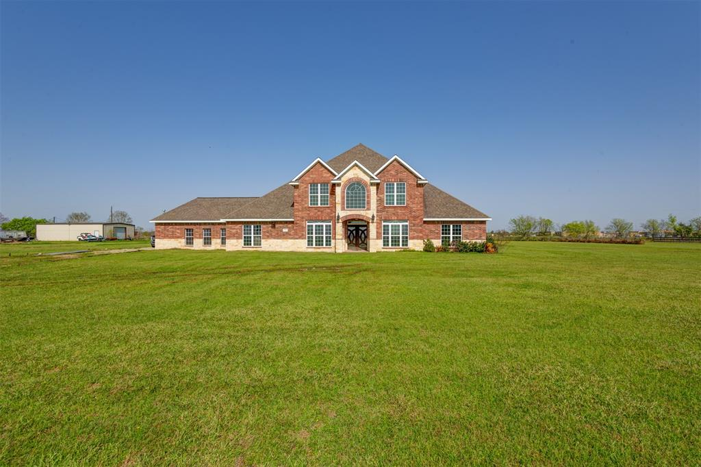 This Unique beauty is located on 2 acres with unique features to show. 4 bedrooms and 4 bathrooms, oversize kitchen which opens up to the breakfast area,   2nd Family area. This beautiful home has a Huge front double doors, will leads you into the spacious family room.