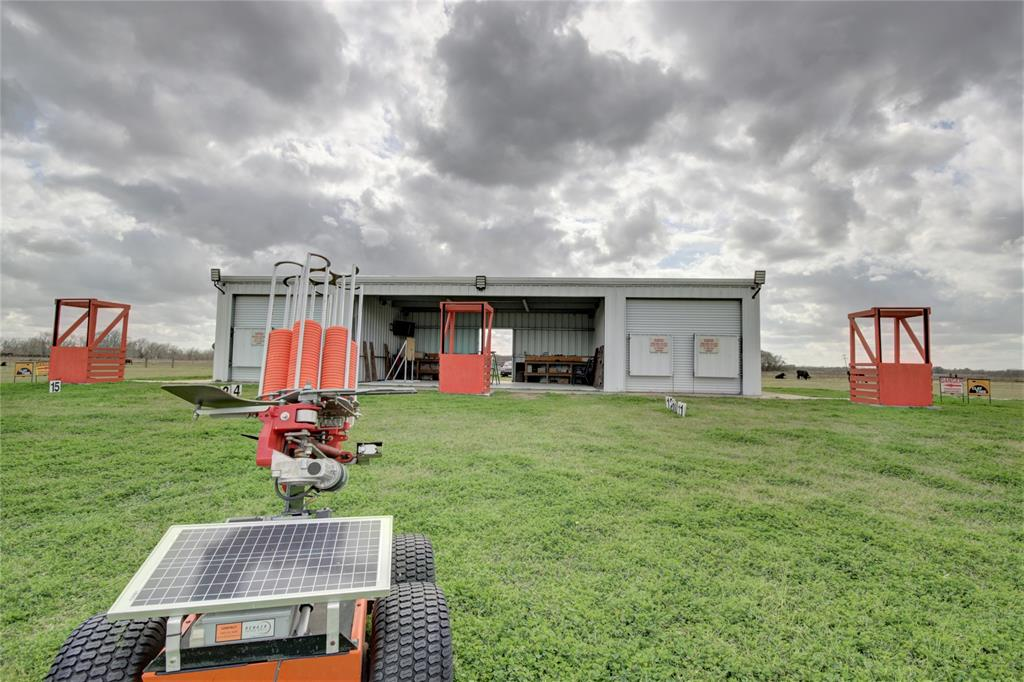 Incredible opportunity to own a uniquely Texas property in Matagorda county, 80 miles from Houston. Parcel consists of helicopter pad engineered and stamped by the FAA, a 1200 sf clay shooting pavilion and two storage sheds for equipment. See list of clay shooting machines and accoutrements. Multiple parcels make up approximately 119 acres with 70' of Hwy 60 road frontage within the city limits. Building has electric, water, Direct TV satellite, reclamation system, and generator. Land is Ag exempted. Also available is an adjacent 123.75 acres (MLS 8991713) with two entertainment barndominiums and patios, a full kitchen, 2 apartments, RV hookups and more. Great for corporate events, family reunions, and weekend getaways. The helicopter pad is truly unique and makes getting here easy for executives flying into HOU - hop a heli at Million Air and you're out here, having some Texas sized fun in less than an hour. Come on out to Bay City and we'll show you around!