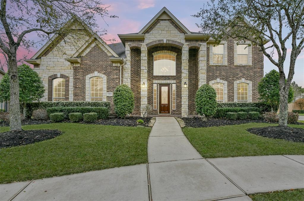 A stunning showcase on the 15th hole of the Golf Club of Houston member course. A rare opportunity to own a 19,054 sq.' lot, on a cul-de-sac street, with a 4-car garage and golf & water views in the sought-after Fall Creek community. Embrace style & elegance in this impeccable 5-bedroom home with sophisticated touches such as a stone & brick elevation, wood floors, arches, stunning tile, double crown molding, ample windows & multiple fireplaces. A dramatic entry leads to a private study & formal dining & a downstairs media room. An open chef's kitchen features beautiful cabinets with rope detailing, granite counters, 4-burner gas cooktop, stainless-steel GE Profile appliances & a massive pantry. The enormous primary retreat includes a sitting area, 2 walk-in closets & a luxurious bath. 4 more sizable bedrooms, 2 additional private baths, an oversized game room & laundry room complete the stellar floor plan. This home is a must-see and has no neighbors behind for your own private oasis!