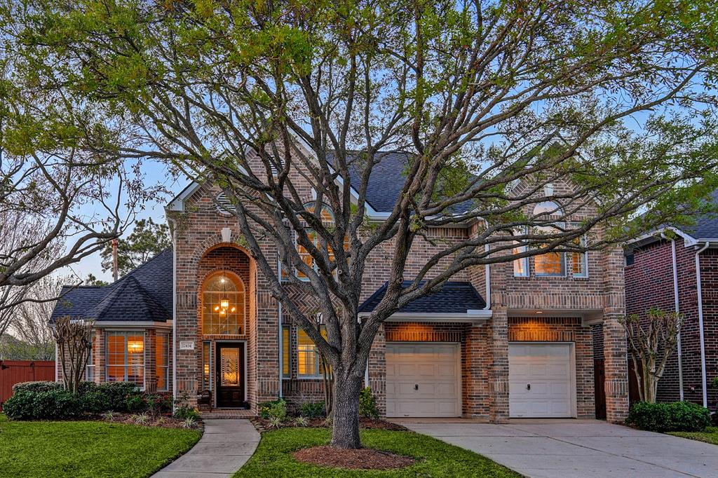 Recently updated and well-maintained Trendmaker home on a corner lot w/a sparkling pool and resort-like backyard. 2-story entry with soaring ceilings & recent wood-look tile flooring welcomes you to a light and airy open concept layout that's been freshly painted with upgraded lighting fixtures and plantation shutters throughout. Formal dining w/millwork detail. Family room w/tall vaulted ceiling, fireplace & built-ins opens to the updated island kitchen with light painted cabinetry, recent stainless appliances & breakfast area with backyard access. Updated first-floor Primary Ensuite w/ large frameless shower & dual vanities. Upstairs game room w/built-in workspace & spacious secondary bedrooms, all w/recent carpet. Interior upgraded ('18). Recent roof & gutters ('19). Enjoy resort-like living in the amenity-rich guard gated community of Lakes on Eldridge North w/bus service available to Awty, BISH and Village schools.