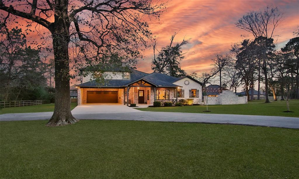 "Incredible custom home on a beautiful wooded 1.125-acre non-restricted property with over 40 trees. ""Country Living in the City"" only minutes to The Woodlands & Tomball. This stunning 4000+ sq. ft. home has 4 bedrooms, 3.5 baths with an oversized garage, and porte-cochere. There is ample parking plus space for your RV and Boat. You will fall in love with the custom interior features.  Open & bright family room with awesome views leading to a private covered extended patio with an amazing hill country limestone fireplace. Gourmet kitchen with a 6X6 soapstone countertop island. Stainless steel appliances, Wolfe range with 6 burner gas cooktop w/pot-filler & oven, custom cabinetry with oversized pots & pans drawers, abundant storage. a cook's dream large white farmhouse sink with a ""foot pedal"" faucet. The Walk-in pantry also serves as a butler's pantry. Primary & 2nd bedrooms on the 1st floor + a private theater room. Gameroom & 2 bedrooms on 2nd floor. Schedule your private viewing."