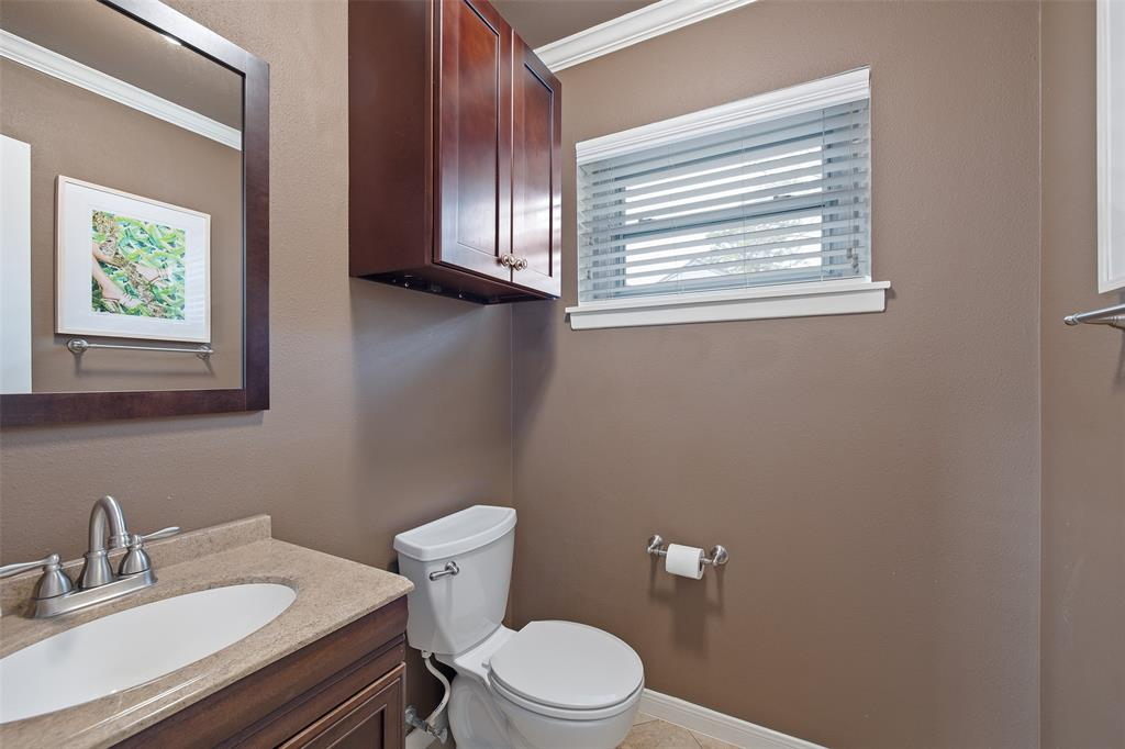 The half bath is attached to bedroom # 2 and offers a great option for over-night guests.