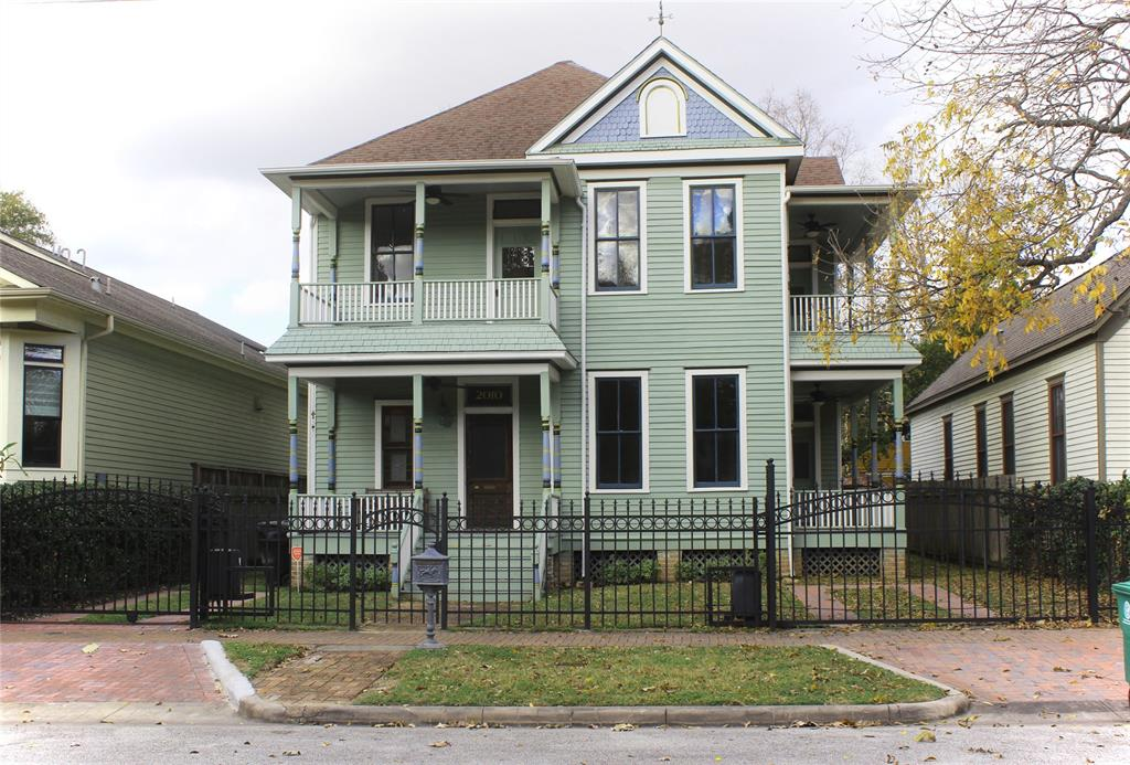 Rare two story original Victorian home in historic Old Sixth Ward. Live in a piece of history with modern conveniences that's close to restaurants, memorial park and downtown. Constructed circa 1888 and renovated with all new copper plumbing, electrical and central hvac. Foors are recently refinished and paint is new inside and out. Original details like transom windows over the doorways and vintage woodwork refinished without losing the patina you won't find in a newer home. Spacious kitchen is complete with stainless appliances and granite countertops. Generous bedrooms open onto breezy porches with downtown views perfect for morning coffee or watching fireworks on the 4th.. Brick sidewalks and pedestrian traffic give an old town feel to the street outside the wrought iron fence with two gated parking spaces. Agent is related to seller.