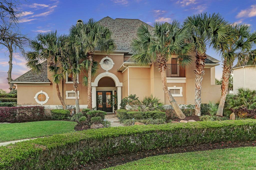 One of the best golf course sites in Sweetwater. Amazing golf course views. 5BRS, 4 full and 2 half baths, 3 car garages. security gate, circular drive, beautiful heated pool with 2 rock waterfalls, and spa. Flagstone patio. The tropical setting is enhanced with multiple palm trees. Covered patios with ceiling fans on both levels. Sit and watch the golfers or the sunset. Picturesque settings for morning coffee or afternoon drinks.  Great for entertaining. The second floor game room opens to the balcony. Master bath remodeled in 2017, all new fixtures and fittings. Creamy marble. Jason hydrotherapy tub, separate shower with bench seating.  New roof in 2017. All 3 A/Cs replaced in last 3 years.Water softener, tankless water heater. Close to shopping, wonderful dining, entertainment venues. Great schools. House never flooded and is equipped with a full house generator.