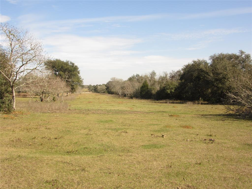 A 76.42 acre tract that has been in family for many years. Used for hunting and grazing cattle to keep the Ag. Exemption. Has lots of live oaks, scrub oaks, water oaks and other hardwoods. Soil type is sandy loam. Has one pond on the east side near the east fence line. Pond one(1) acre some drainage coming into the pond from another slough.  Property has a 30 foot easement off FM 2437 for 1,224 feet and turn left along an old fence for about 652 feet to get into the property.  Property has two(2) pipelines crossing the property from the west to east side fence line. Has one fairly new metal barn that was used for storing supplies and hunting equipment. Has one old camp house that has no value. Several deer feeders and stands are on the property and will remain with the sale.  This property would be a nice weekend retreat for hunting, camping or a home. Has plenty of deer, hogs roaming the area and good signs of wildlife. Come see this nice property just south of Sheridan.