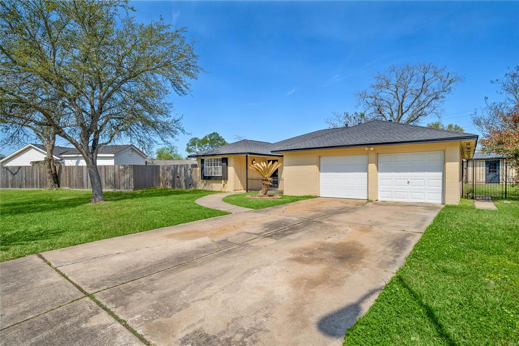 Well maintained recently updated, centrally located 4-bedroom, 2-bathroom, 2 car garage, 1 story house in Stafford with a very low tax rate on an expansive 10,654 sq ft lot, plus shed, with quick access to Hwy 59, Hwy 90, and the Beltway 8/Sam Houston Toll Road at an excellent price. Large living space opens up into the kitchen which contains stainless steel appliances. Gas fire place, tile, laminate flooring. Carpet in bedrooms. Roof 2018, Water Heater 2019, Exterior paint/Interior paint/Carpet, 2021 and, Kitchen, Flooring, Tile, 2020. Never flooded. All per seller. Please see attachments for full list of all recent and past updates. OFFER DEADLINE Sunday March 28th at 5 pm.