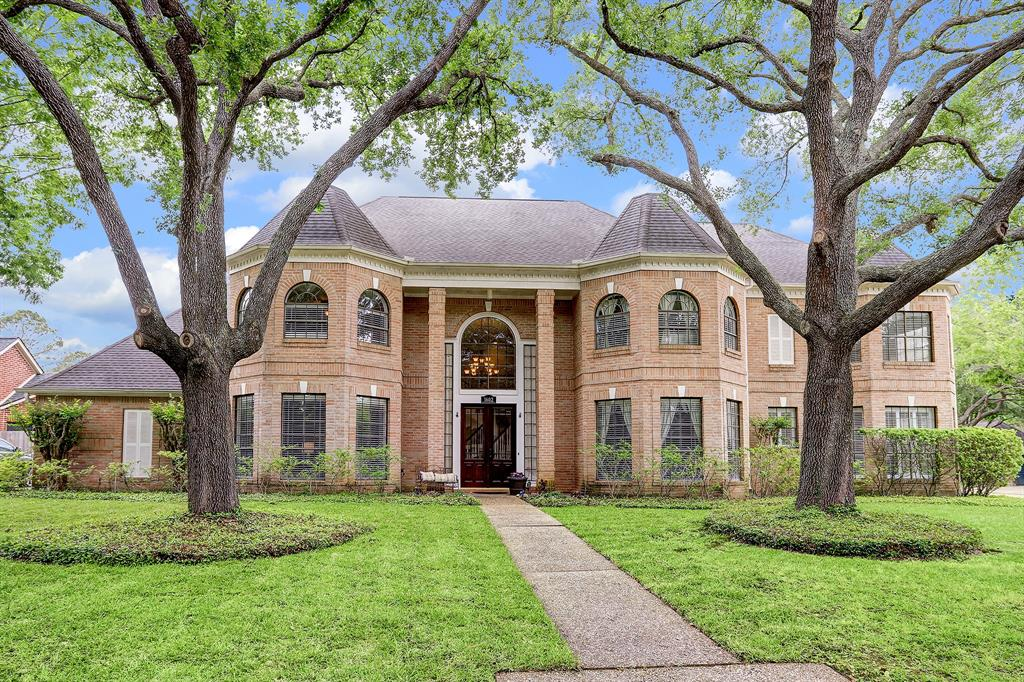 Executive home in the heart of Kelliwood Nottingham Country subdivision with many upgrades throughout.  Recent pool/spa added to back yard w/Pergola & Iron electric gate for privacy. Dramatic 2 story foyer w/sweeping staircase & Italian Marble floors. Intricate crown molding, wall of windows in family room.  Grand kitchen w/granite, stainless steel appliances, lots of cabinets & beautiful designer tiled backsplash. Tons of light throughout the 1st floor. All bathrooms have been remodeled w/custom antique styled cabinets, hardware & granite.  Primary bedroom located downstairs with en suite gorgeous bath room. Oversized Game room upstairs w/brick-hearth fireplace, tons of storage & large enough for pool table.  Four additional bedrooms w/walk-in closets & one can be used as second primary bedroom. Zoned to KISD Schools, located near 1-10 & Westpark. LOW TAXES!