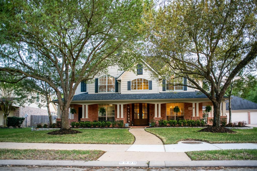 Welcome to 5506 Maybrook Park Lane!  This welcoming, large property is a 5 bedroom, 3 bath, 2 half bath home with plantation shutters, a home office, massive game/play room with large windows overlooking the backyard, a mud room with lockers, spacious kitchen, and large master bedroom.  The 14,000+ sq ft lot has an updated pool with a wireless control system, and large covered patio.  The 5+ car garage can fit all your toys and has a half bath & outdoor shower.  This home has many upgrades including an updated master bath, walnut built in entertainment center and new HVACs in 2016.  Close to Whole Foods and Shopping Centers and also zoned to the highly rated KISD. The Grand Lakes Community offers amenities such as pools, splash pads, tennis courts, lakes, dog park, walking trails and more! Easy access to Grand Parkway, I-10 or Westpark Tollway makes any commute simple. Never flooded and no water damage during winter storm. Walking distance to Alexander Elementary. Super low tax rate!