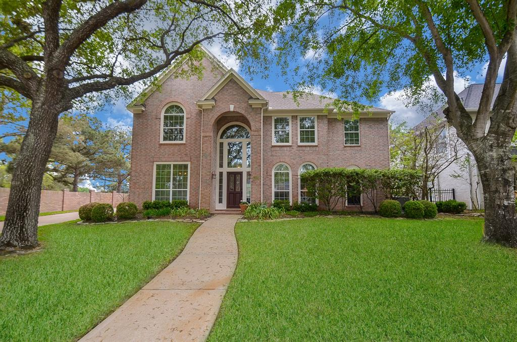 Surrounded by Cinco's Golf courses you will find this gem! Corner lot with views to Golf Course. Immaculate home shows pride of ownership. Updated interior will please.2 story foyer welcomes you into this carpet free home. Wood look tile through  the main living area, bedrooms, game room/media room. Decorative tile flooring in updated baths. Open concept kitchen with island, Viking range w/6 burners and gas oven.  Built in Refrigerator, ss appliances and Carrera marble counter tops. Spacious living room with calming views to the yard and pool/spa. Study with transom and doors provide privacy for work from home or home schooling. Primary bath with free standing tub, shower and double sinks was updated in 2015. Upstairs baths with walk in showers & marble counters updated in 2016. New roof 2019, HVAC's 2019,Water heater 2020, exterior just painted, new pool pump. Double pane windows. Easy access to trails, area pools, golf course, shopping, dining and schools. 4 car size garage! Pool/spa