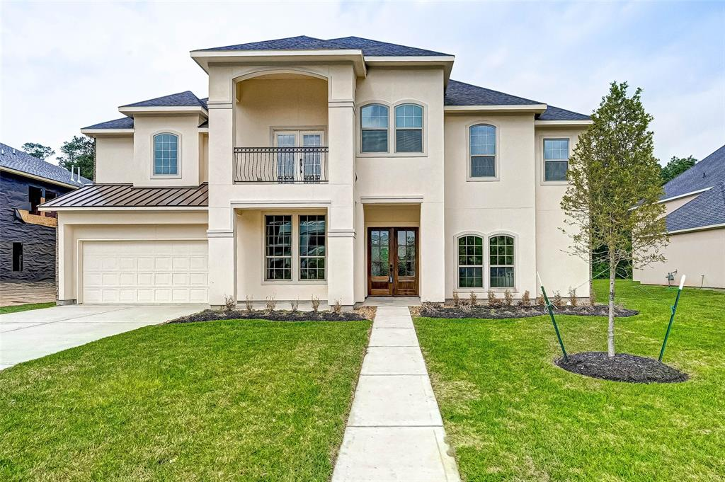 New construction in custom section of Fall Creek! Intricately designed with 4,365 sq ft of generous living space, your family will enjoy all the amenities this home has to offer. Dramatic entry with rich, curved wrought iron staircase sets the tone for a warm, happy home. Beautiful wood flooring enhances the appeal as you walk through and experience the architectural design and beautiful finishes. Comfortable space in light & bright private study with built-in cabinets. Formal dining has trey ceiling & flows into the butler's pantry. Delightful kitchen with 6-burner gas stove, expansive counter space, walk-in pantry & large breakfast room. Luxurious primary bedroom offers sitting room & direct access to outdoor covered patio; 2nd bedroom down. Upstairs features 3 additional bedrooms, media & game room w/large covered balcony. This golf community has 2 pools, fitness center, sports complex, tennis courts, & walking/bike trails. Come home to Fall Creek and experience the difference!