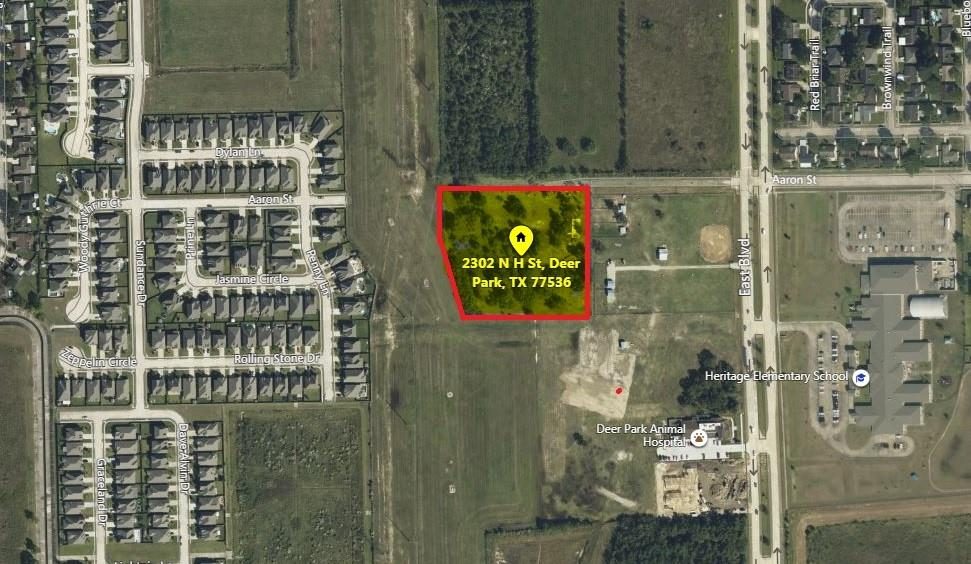 Attention Builder's and Investor's!!! Great opportunity to build on these 4.51 acres with NO RESTRICTIONS; right at the HEART of the prime area in Deer Park! Acres are located at close proximity to the newly developed HEB, Wal-Mart and other prime stores. Elementary school at walking distance from the ACRES! LOCATION, LOCATION, LOCATION!! Schedule your appointment.